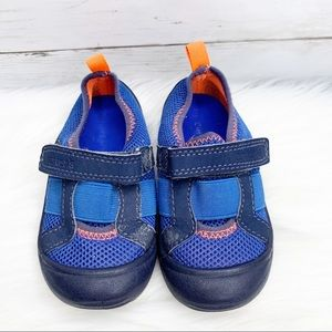 Carter's Blue and Orange Velcro Water Shoes